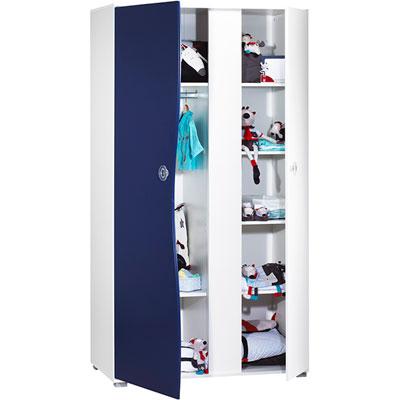 Amoire 2 portes pop indigo Sauthon meubles