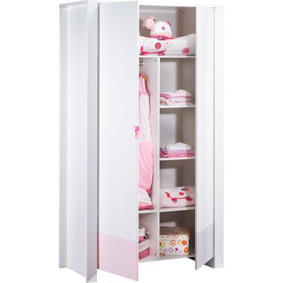 Armoire 2 portes city rose Sauthon meubles