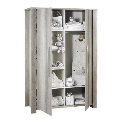 Armoire chambre bébé 2 portes emmy Sauthon meubles