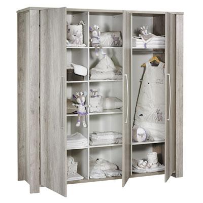 Armoire chambre bébé 3 portes emmy Sauthon meubles