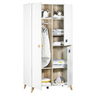 Armoire chambre bébé oslo boutons goutte Sauthon meubles