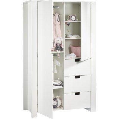 Armoire chambre bébé city blanc Sauthon meubles