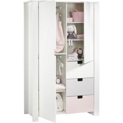 Armoire chambre bébé city girl Sauthon meubles
