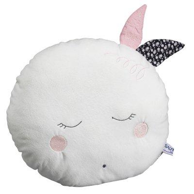 Coussin déco bébé lune miss chipie Sauthon baby deco