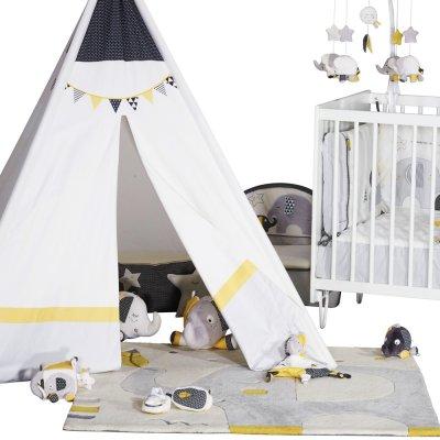 Tour de lit bébé babyfan Sauthon baby deco