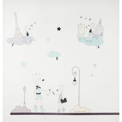 Stickers chambre bébé lulu chéri Sauthon baby deco