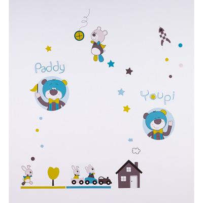 Stickers chambre bébé paddy Sauthon baby deco