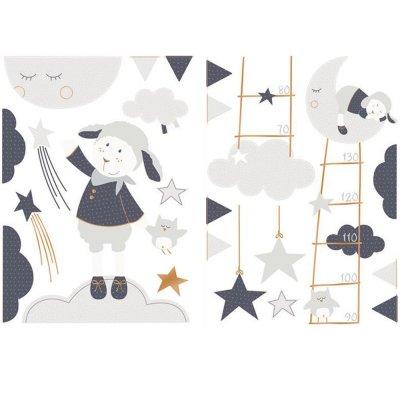 Stickers chambre bébé merlin Sauthon baby deco