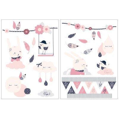 Stickers chambre bébé miss fleur de lune Sauthon baby deco