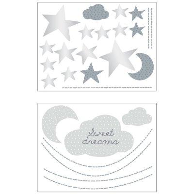 Stickers chambre bébé xxl nuage céleste Sauthon baby deco