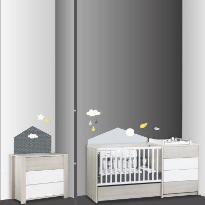 Stickers chambre bébé home babyfan Sauthon baby deco