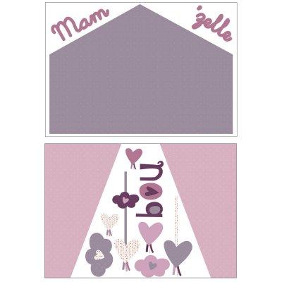 Stickers chambre bébé home mam'zelle bou Sauthon baby deco