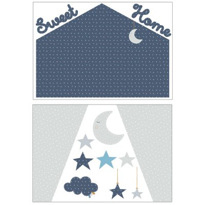 Stickers chambre bébé home merlin Sauthon baby deco