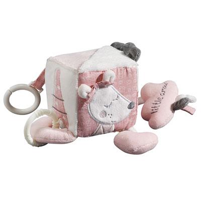 Jouet d'éveil bébé cube d'activités lilibelle Sauthon baby deco