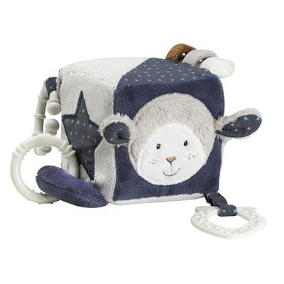Jouet d'éveil bébé cube d'activités merlin Sauthon baby deco