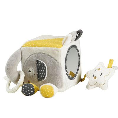 Jouet d'éveil bébé cube d'activités babyfan Sauthon baby deco