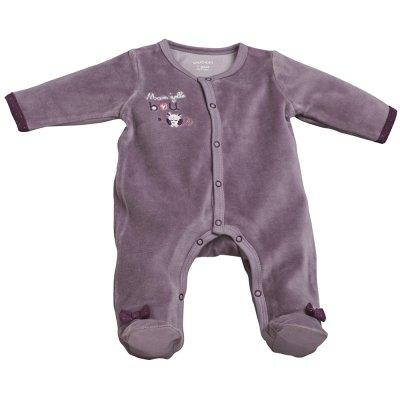 Pyjama velours mam'zelle bou parme Sauthon baby deco
