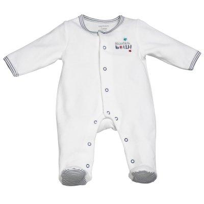 Pyjama velours mister bouh blanc Sauthon baby deco