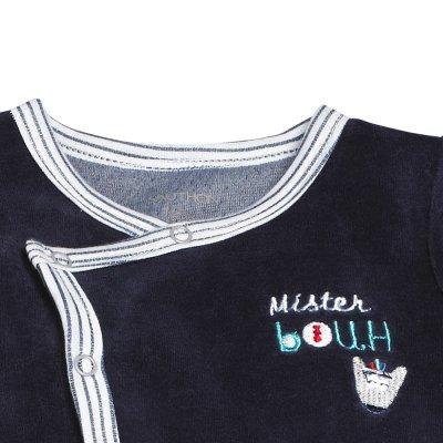 Pyjama velours mister bouh bleu marine Sauthon baby deco