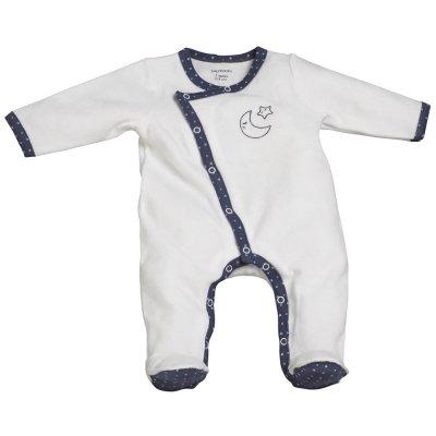 Pyjama velours merlin blanc Sauthon baby deco