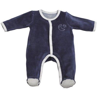 Pyjama velours merlin bleu Sauthon baby deco