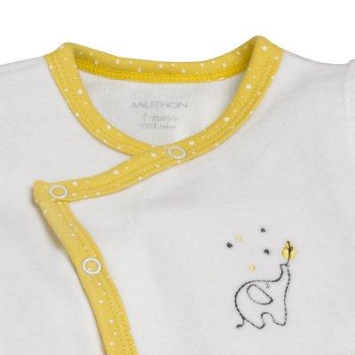 Pyjama velours babyfan blanc/jaune Sauthon baby deco