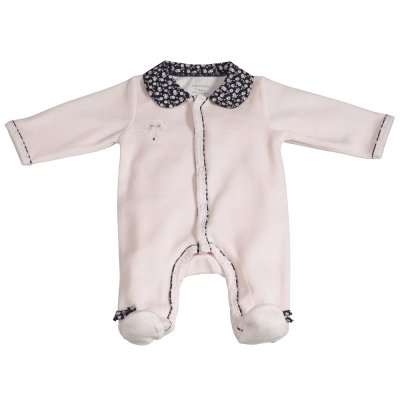 Pyjama velours miss chipie rose Sauthon baby deco