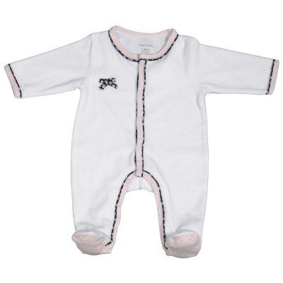 Pyjama velours miss chipie blanc Sauthon baby deco