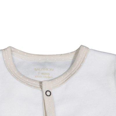 Pyjama velours timouki blanc Sauthon baby deco