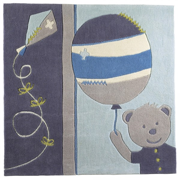 Tapis de chambre bébé lazare 110 x 110 cm Sauthon baby deco
