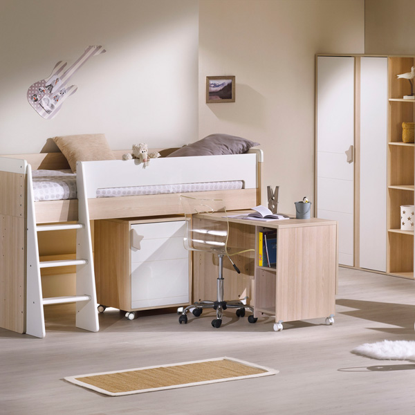 Lit chambre transformable 70x140cm norway 30 sur allob b - Chambre kirsten transformable ...