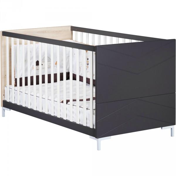 Little big bed 140x70cm dark grey