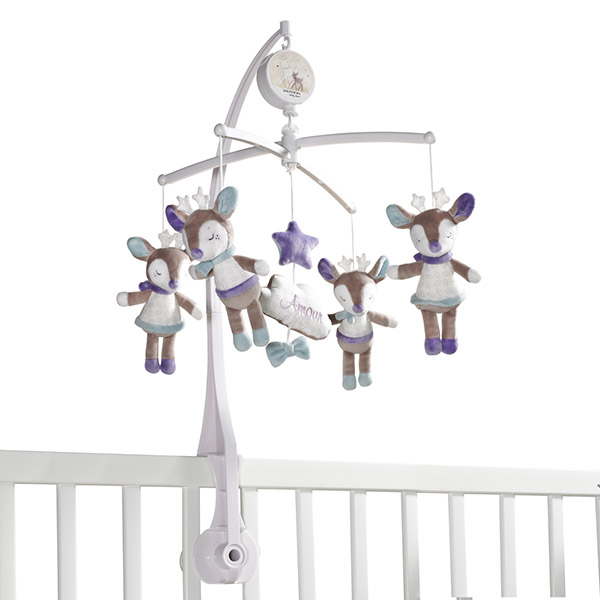 Mobile bébé musical noisette Sauthon baby deco