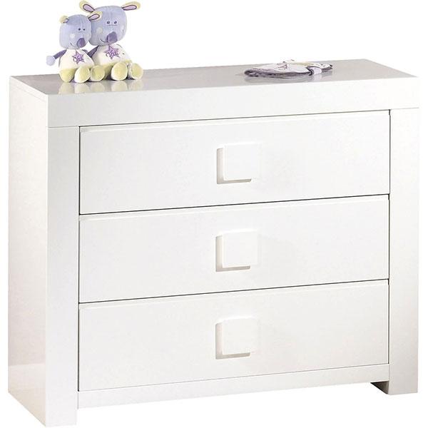 Chambre bébé duo zen bouton carré 2 éléments lit + commode Sauthon meubles