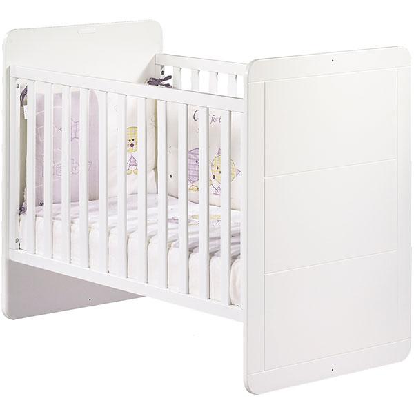 Chambre bébé duo zen bouton carré 2 éléments lit + armoire Sauthon meubles