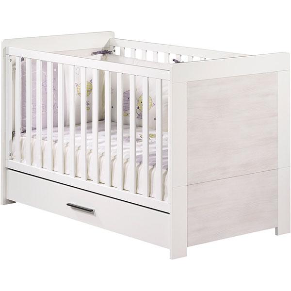 Chambre bébé duo zen rivage 2 éléments lit + armoire Sauthon meubles