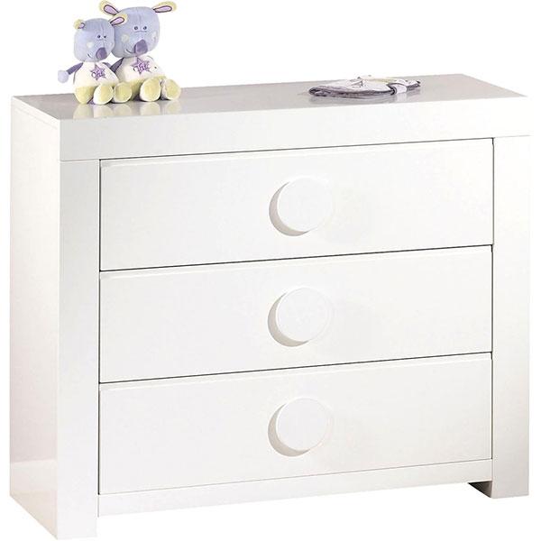 Chambre bébé trio zen bouton rond 3 éléments Sauthon meubles