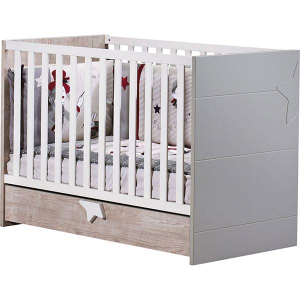 Chambre bébé duo nova 2 éléments lit + commode Sauthon meubles