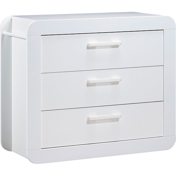 Chambre duo astride blanc 2 éléments lit et commode Sauthon meubles
