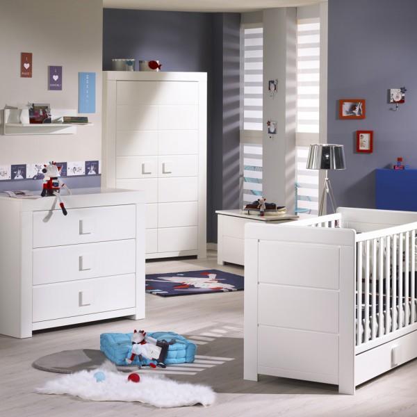 chambre b b trio zen bouton carr 3 l ments de sauthon meubles. Black Bedroom Furniture Sets. Home Design Ideas