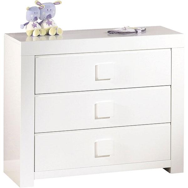 Chambre bébé trio zen bouton carré 3 éléments Sauthon meubles