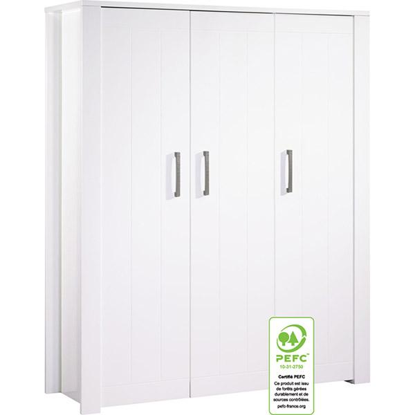 armoire chambre b b 3 portes deauville 30 sur allob b. Black Bedroom Furniture Sets. Home Design Ideas