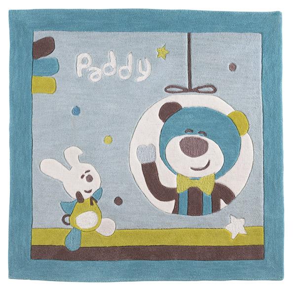 Tapis de chambre bébé 110x110cm paddy Sauthon baby deco