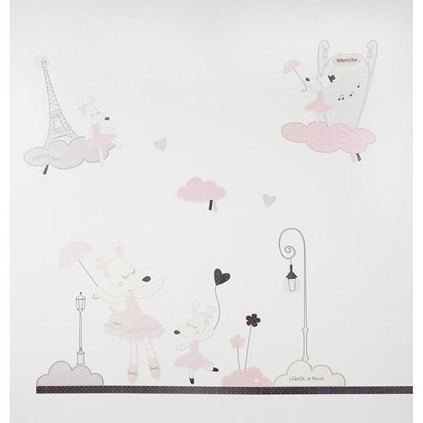 Stickers chambre bébé lilibelle Sauthon baby deco