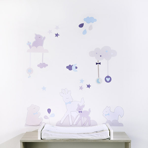 soldes stickers chambre b b noisette 30 sur allob b. Black Bedroom Furniture Sets. Home Design Ideas