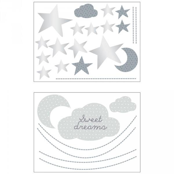 Chambre Bebe Xxl : Stickers chambre bébé xxl nuage céleste de sauthon baby deco