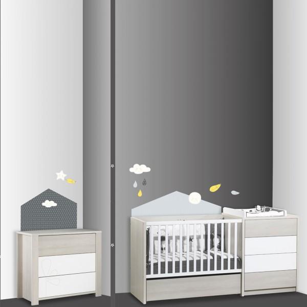 Stickers chambre b b home babyfan de sauthon baby deco for Chambre bebe sauthon