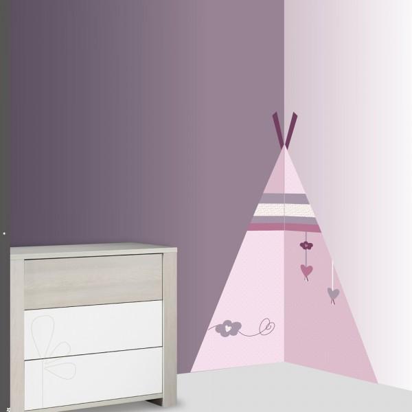 Chambre Bebe Xxl : Sticker chambre bébé xxl tipi mam zelle bou de sauthon
