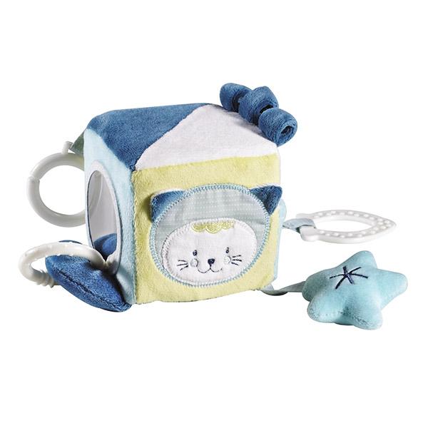 Jouet d'éveil bébé cube d'activités patachon Sauthon baby deco