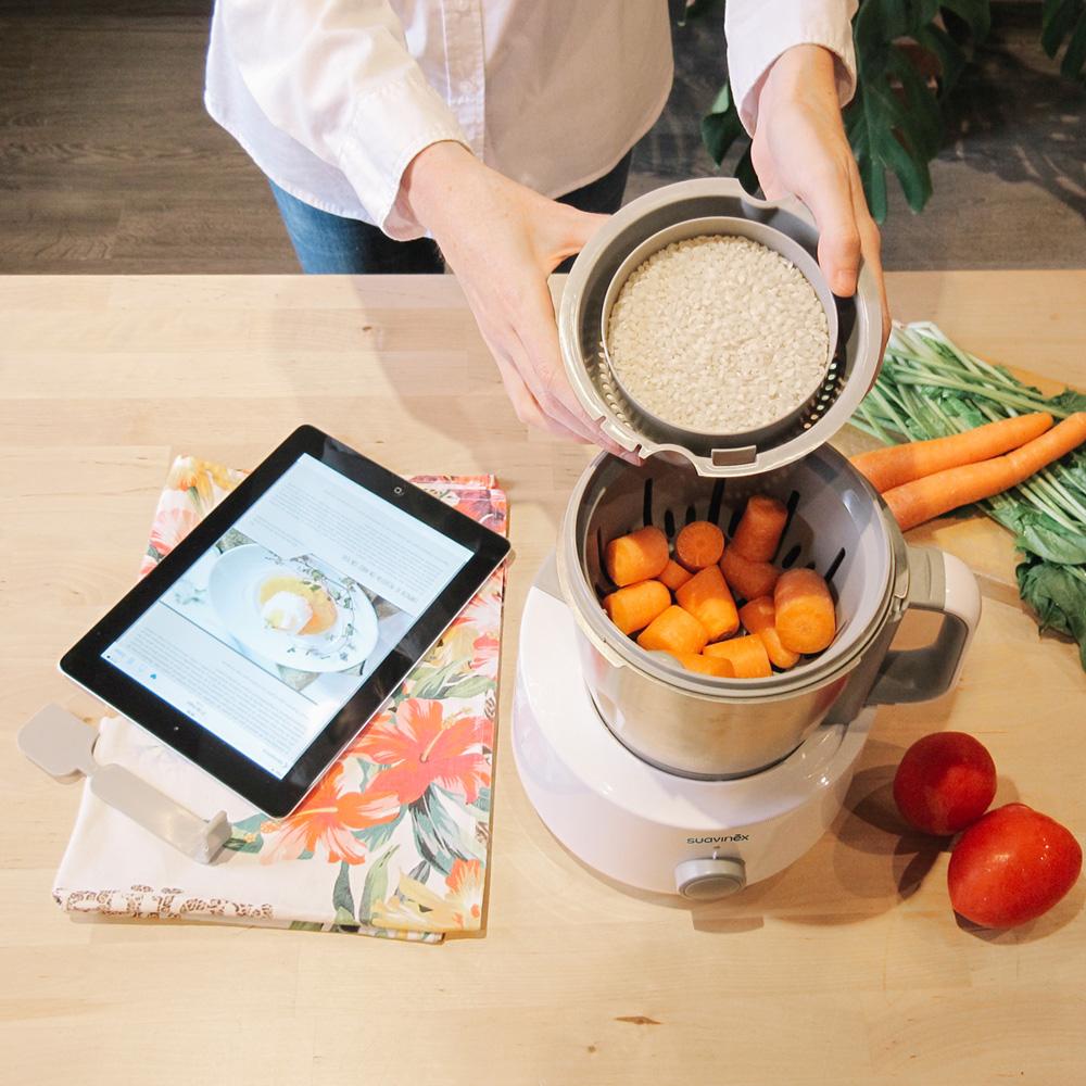 Robot de cuisine mixeur cuiseur link de suavinex chez for Robot de cuisine cuiseur